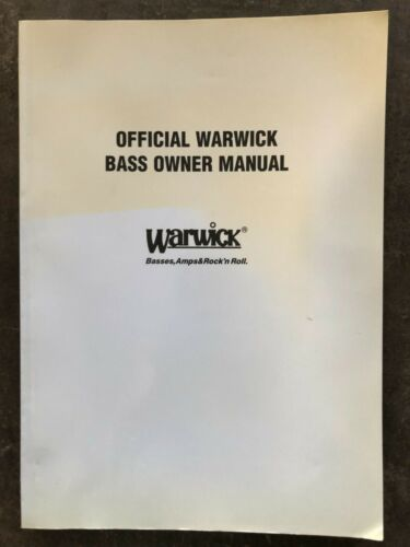 Official Warwick bass owner manual (Multi-languages)