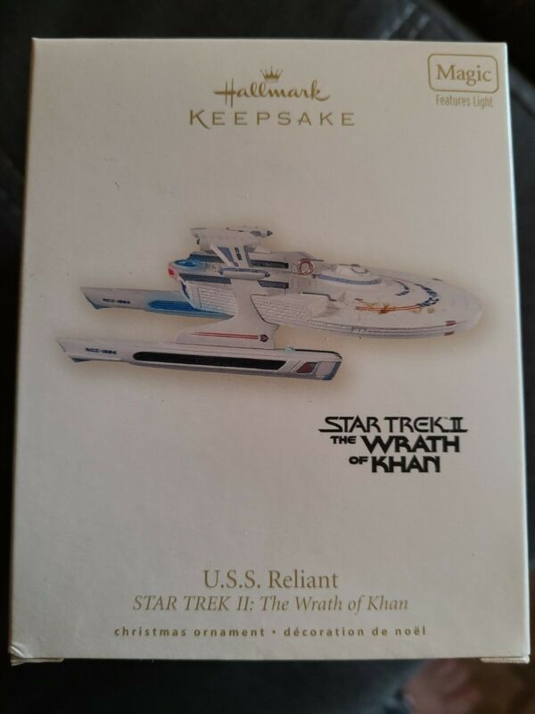 HALLMARK ORNAMENT STAR TREK II 2008 USS Reliant Light Up NOS WRATH OF KAHN