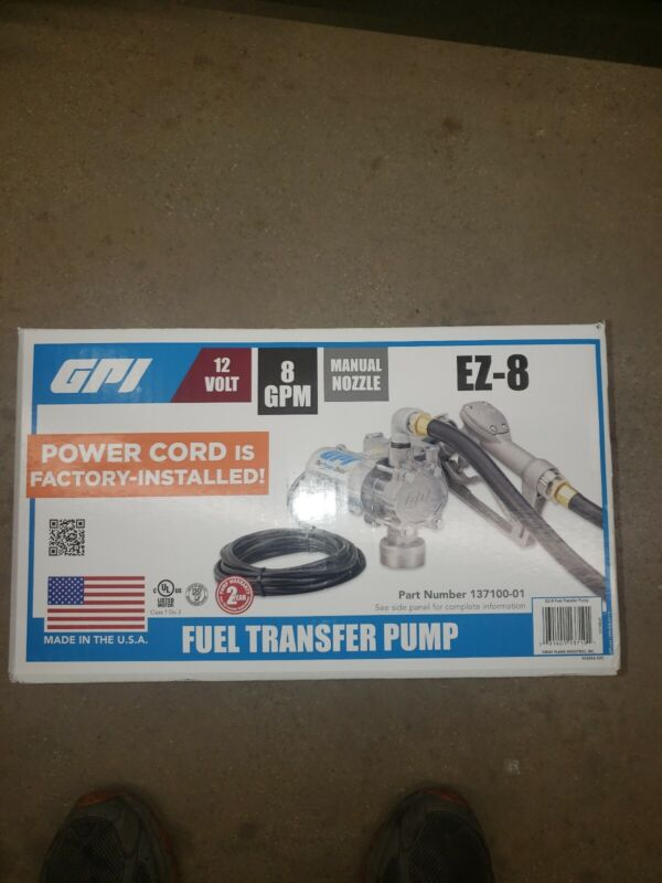 GPI EZ-8 DC Powered Fuel Transfer Pump - 8 GPM, 12 Volt, Model# EZ-8 Pump