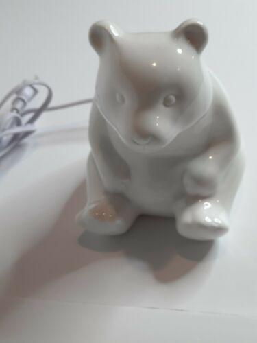 "White Polar Bear Ceramic Night Light 7"" Nursery Unisex Childs Room Lite Target"