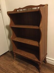 Vintage Solid Wood Bookshelf!
