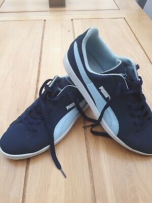 Puma Smash Suede Navy/Sky Blue Trainers - UK 10