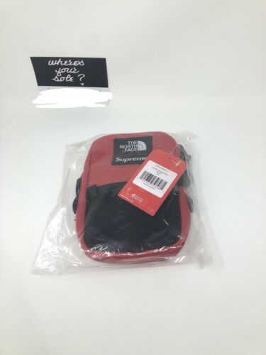 Supreme The North Face Leather Shoulder Bag Red TNF New DS F