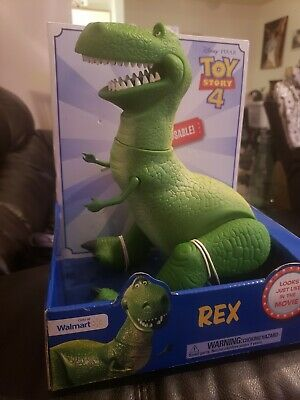 "Toy Story 4 Rex 15"" Poseable Dinosaur Figure Disney Pixar Walmart Exclusive New"