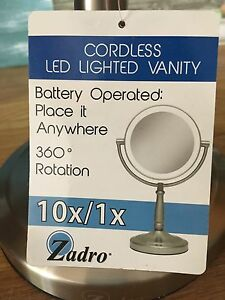 Cordless LED Lighted Vanity