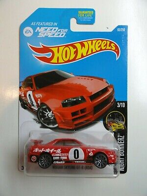 2016 Hot Wheels Nightburnerz #3 Nissan Skyline GT-R R34 (Red #0)  Need for Speed