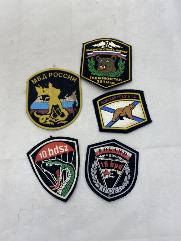 Lot Of 5 Russian Military Patches (VB2746
