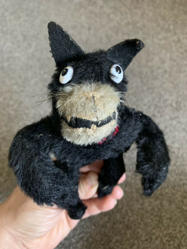 C 1900s Early Antique  Farnell? Mohair Felix The Cat Doll Very Nice All Posable!