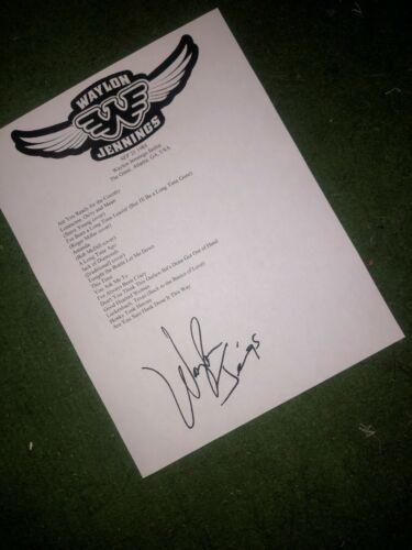 Waylon Jennings signed setlist reprint from The Omni Georgia 1984