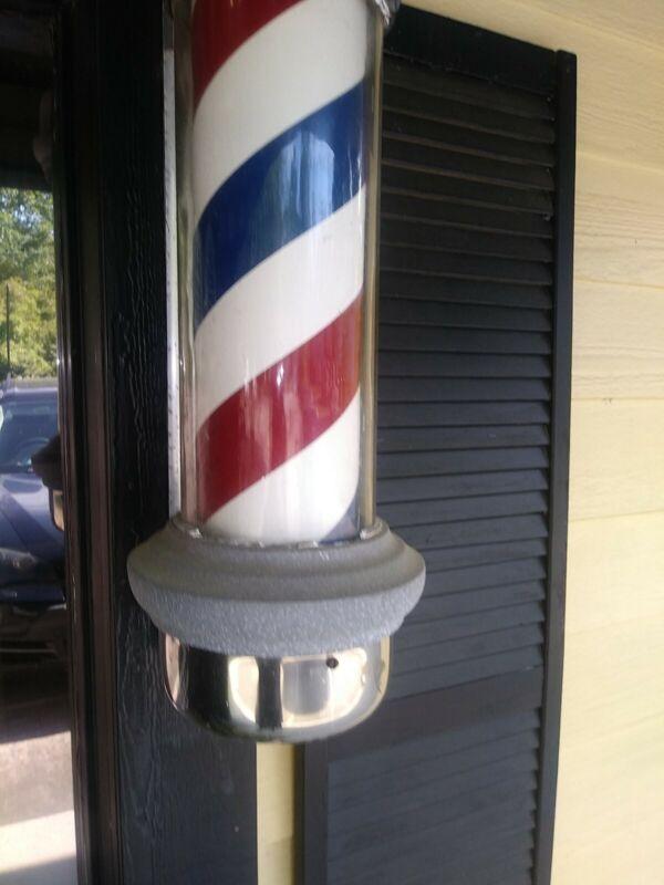 Barber Shop Pole  Vintage WORKS Electric Wall Mount