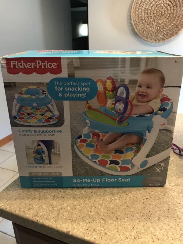 Fisher-Price Deluxe Sit-Me-Up Floor Seat with Toy Tray Multicolor