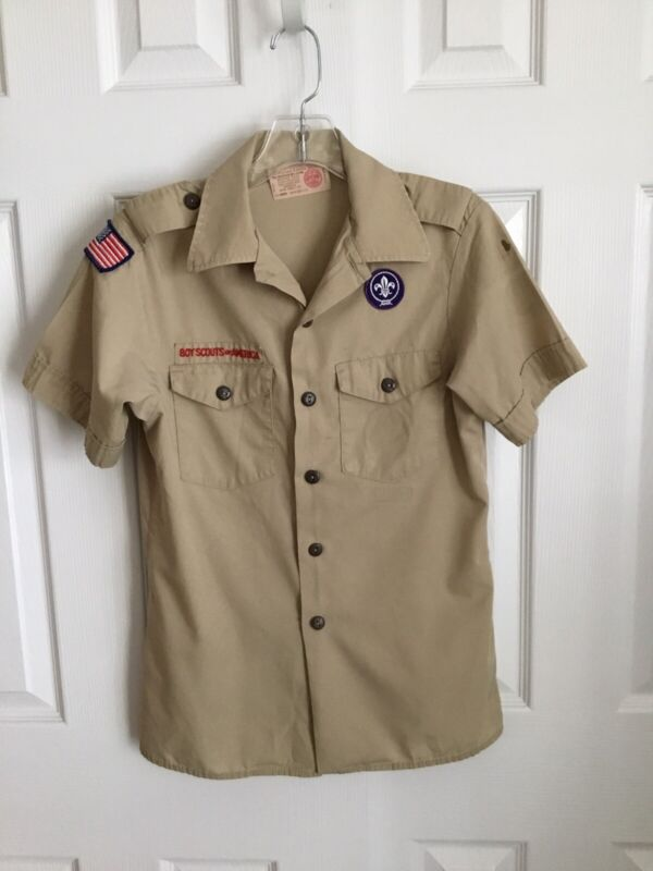 BSA Tan Short Sleeve Official Youth Shirt Size Youth Large