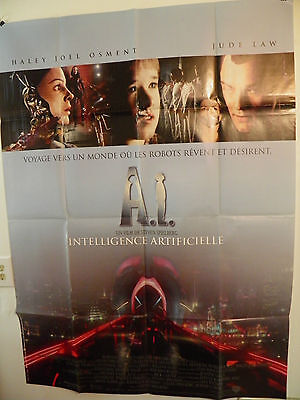 A.I. ARTIFICIAL INTELLIGENCE Large French Poster 2001 Steven Spielberg Jude Law