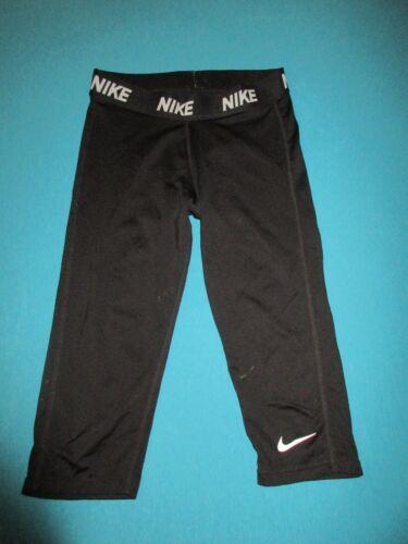 NIKE Girls Black Capri Leggings Size Large L