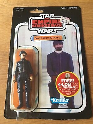 Star Wars Vintage Carded ESB 47 Back Bespin Security Guard White Moc