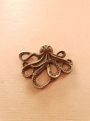 Tintenfisch Krake Octopus ~ Maritimer Verbinder ~ Schmuck Charms Vintage Bronze