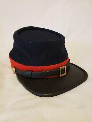 American Civil War Union Artillery Or Marine Officers Enlisted Kepi Hat Cap  Civil War Union Kepi