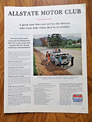 1963 Allstate Life Insurance Ad     The Allstate Motor Club