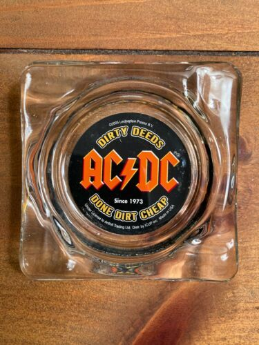 AC/DC Dirty Deeds Done Dirt Cheap  Glass Ashtray 2005  Made in USA