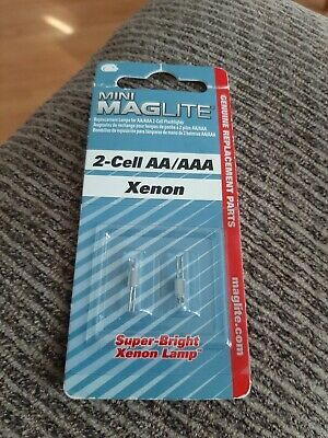 Maglite LM2A001K Replacement Xenon Lamp for Mini Maglite 2-Cell AA/AAA New