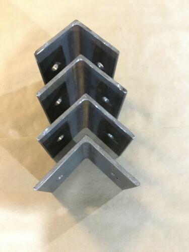 Four Heavy-Duty Angle-Iron Brackets with Holes