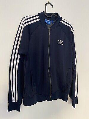 Adidas Originals Navy Zipped Jacket Size Medium Superb Condition