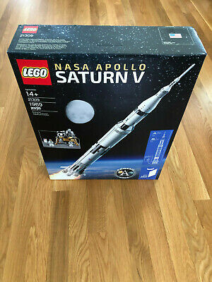 LEGO 21309 Space Ideas NASA Apollo Saturn V  (SHIPS FEDEX !!)   (NEW & SEALED)