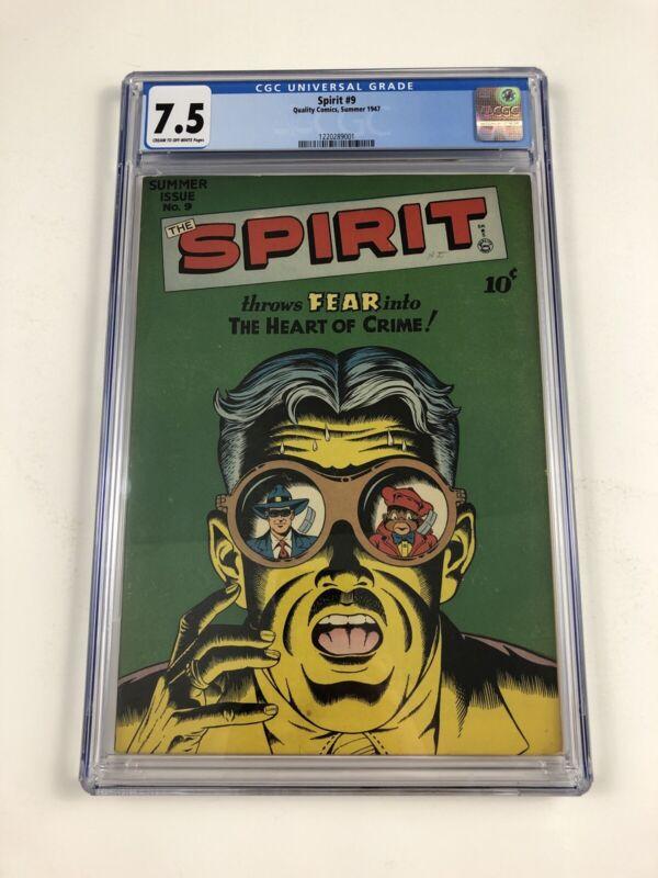 The Spirit #9 CGC 7.5 Quality Comics 1947