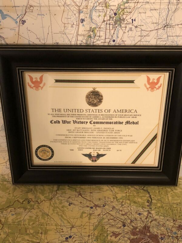 COLD WAR VICTORY COMMEMORATIVE CERTIFICATE ~ Type 1