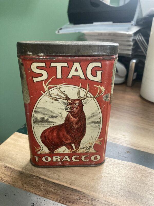 Vintage Stag Tobacco Pocket Vertical Tin