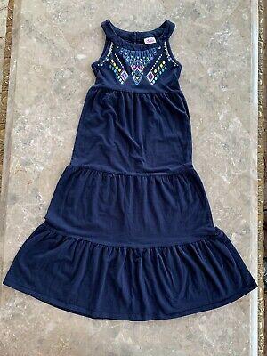 Justice Girls Sleeveless Long Dress, Size 5, Navy