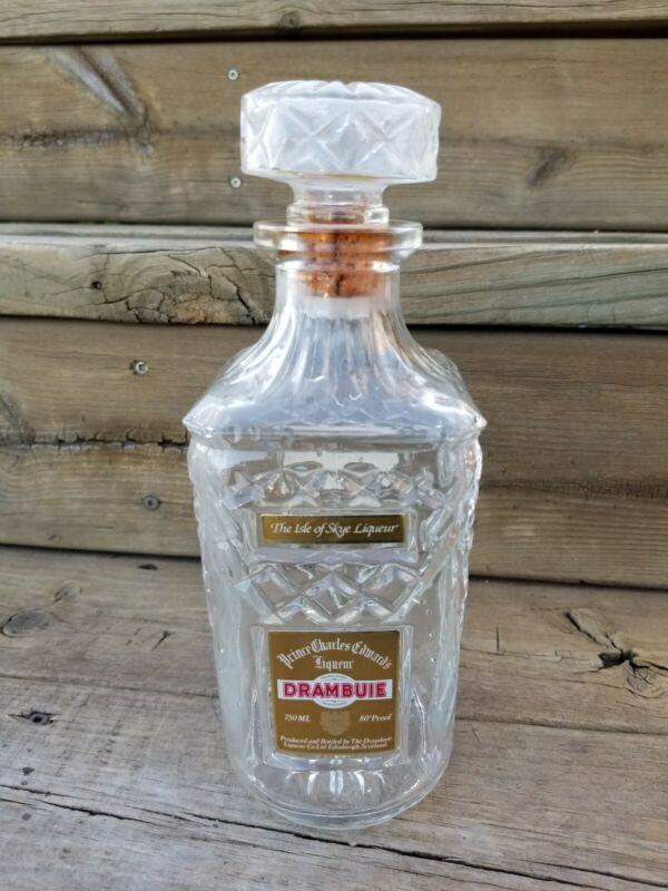 Drambuie Prince Charles Edward's Crystal Glass Liqueur Bottle Decanter 750ml