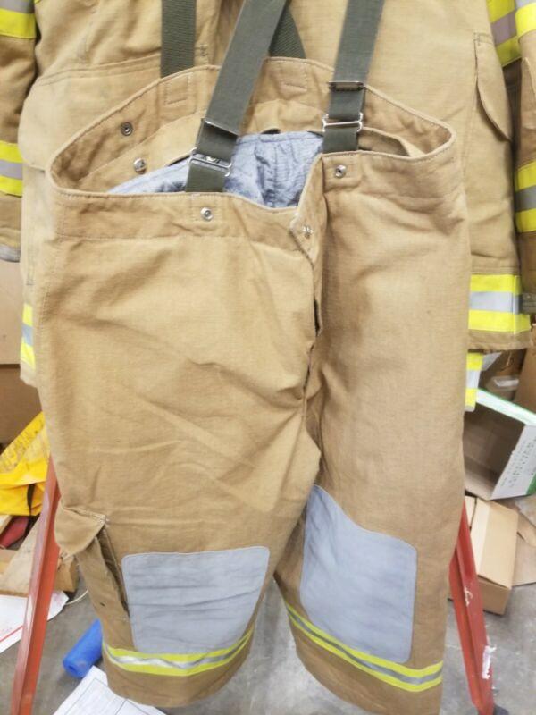 NOS Lion Jaynesville Firefighter turnout gear Pants 42R 42W x30L Gold 2022