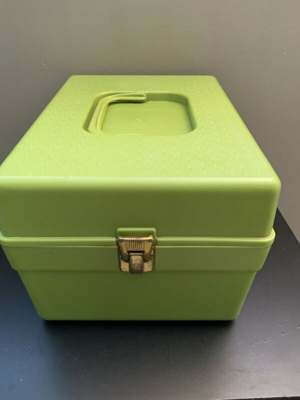 Vintage Wilson Wil-hold Plastic Sewing Pattern Storage Dividers Avocado Green
