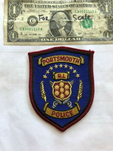 Portsmouth Rhode Island Police Patch in great shape