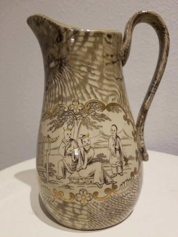 Antique Banko Ware Japanese Water Pitcher