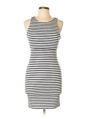 - NWT Women's Lily Black Stretch Sheath Navy/White Striped Dress reg $125 L