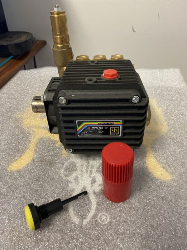 Interpump WW94 High Pressure Pump Male Solid Shaft 90 Bar 1300 PSI 13 LPM ITALY