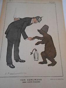 1919 Original Print Von Kuhlmann Herr Koupe-toujours dessin Barrère - France - État : Etat correct: Livre présentant des marques d'usure apparentes. La couverture peut tre légrement endommagée, mais son intégrité est intacte. La reliure peut tre légrement endommagée, mais son intégrité est intacte. Existence possi - France