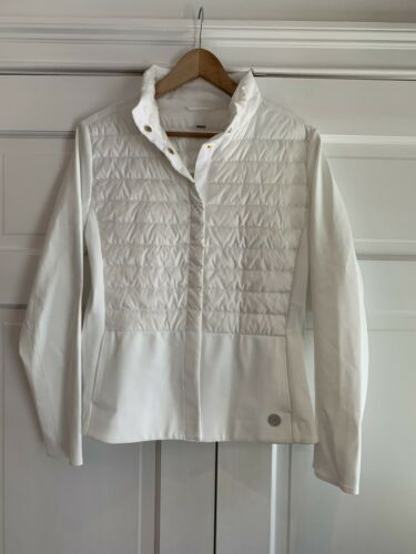 Купить Bogner - Bogner White Lightweight Thin Down Puffer Jacket US Size 10 Retail $750 EUC
