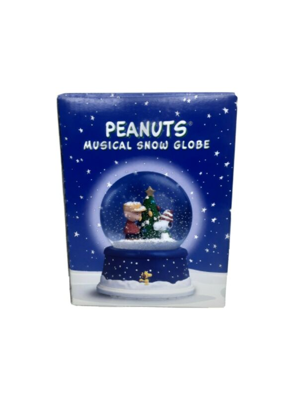 Peanuts Christmas 50th Anniversary Musical Snow Globe Hallmark Snoopy Charlie