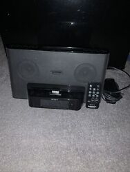 Sony Black iPhone Clock Radio Speaker Dock Dream Machine ICF-CS15iP