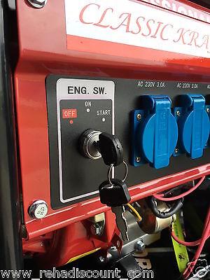 E-Start 6500watt Benzin Stromerzeuger Stromgenerator Notstrom Aggregat Generator