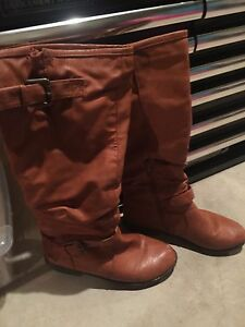 Cognac riding boots  London Ontario image 1