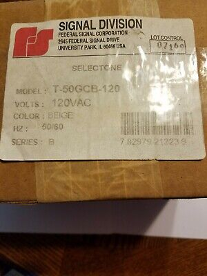 New Federal Signal T-50gcb-120 Selectone Speaker Amplifier Round Ceiling Mount