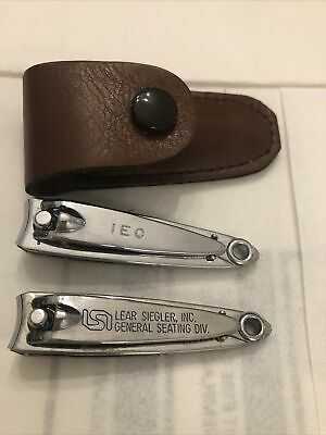 Vintage Bassett Advertising Nail Clippers IEC And Lear Siegler With 1 Case