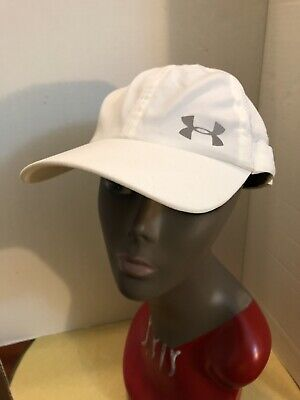 """UNDER ARMOUR """"WOMENS"""" WHITE BASEBALL HAT WITH REFLECTIVE LOGO, NWOT"""