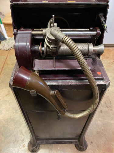 Thomas A Edison Pro-technic Ediphone Voice Writer With Stand