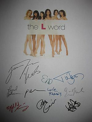 The L Word Signed TV Script x10 Jennifer Beals Erin Daniels Laurel Holloman rpnt