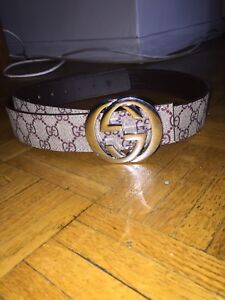 100% Authentic beige Gucci belt with silver buckle